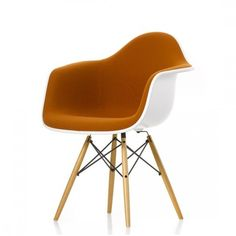 Home Vitra Eames Daw Plastic Armchair Fully Upholstered
