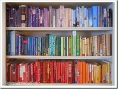 .books in rainbow rows