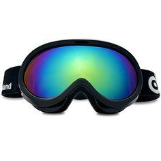 6e603db7993a55 Odoland Lunettes de Ski Masque de Snowboard pour Enfants-Anti-UV400, Anti-Buée,  Coupe-Vent, Lunettes de Protection avec Grande Lentille OTG Sphérique ...