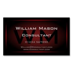 Black and Red Framed Monogram - Business Card. This is a fully customizable business card and available on several paper types for your needs. You can upload your own image or use the image as is. Just click this template to get started!