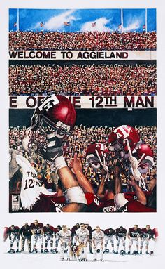 Benjamin Knox paintings are amazing... this one shows what Kyle Field looks like during the Maroon Out games.