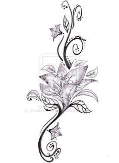 tribal lilly tattoo super pretty
