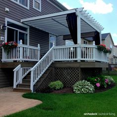 5 Ways To Add Plants To Your Deck Design | Detachable deck rail planters will transform your deck into a hardscape garden. Advantages of these planters include price and privacy, convenience and curb appeal, versatility and variety.