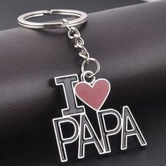 I Love Papa Creative Metal Keychain Keyring Key Chain Cute Family Father's Day Daddy Daughter Quotes, Love My Parents Quotes, Mom And Dad Quotes, I Love My Parents, Father Quotes, Love U Papa, I Love My Dad, Stylish Letters, Fathers Love