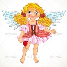 Angel Girl with Wings ...  angel, ballet, character, clip, cute, day, dress, duct, fairytale, fantasy, fun, funny, girl, gloss, greeting, illustration, love, magic, pink, princess, queen, s, shape, shiny, smile, star, sweet, vector, wings, young