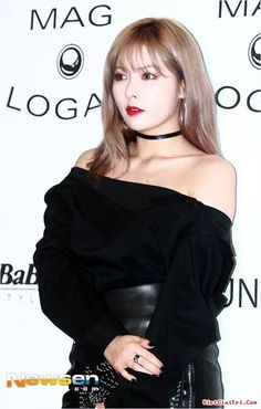 Choker Fashion of Kim Hyuna