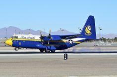 "BuNo 164763 USMC Blue Angels ""Fat Albert""  1992 Lockheed C-130T Hercules C/N 382-5258 - McCarran International Airport, Las Vegas"