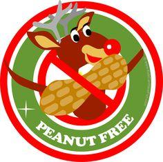 Christmas Reindeer Peanut Free Poster
