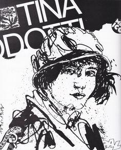 Retrato-de-Tina-Modotti-para-el-Suplemento-Unicornio.-Dibujo-en-tinta-china-