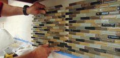 How to install a mosaic subway tile backsplash