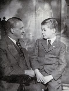 Vyvyan Holland and his son Merlin-son and grandson of Oscar Wilde.