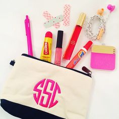 """preptista:  Talking about my new favorite monogrammed pouch from @thirtyone and and some of my """"in case of emergency"""" handbag essentials on the blog today!  (at www.preptista.com)"""