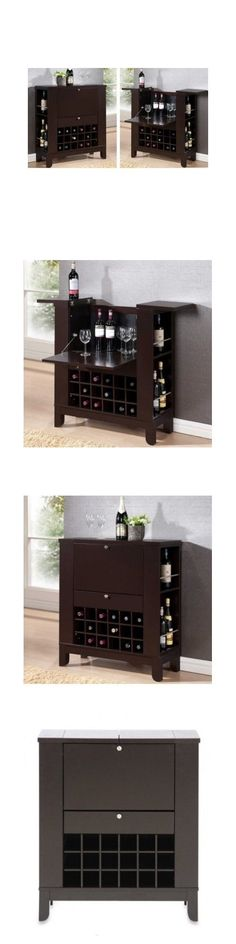Home Pubs and Bars 115713: Wine Bar Furniture Mini Cabinet Liquor Storage Wood Home Win Rack Stemware Pub -> BUY IT NOW ONLY: $259.99 on eBay!