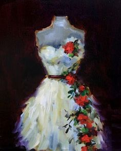 'She Wore a White Dress With Roses' by Nancy Medina