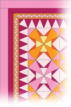 Another great border idea courtesy of Electric Quilt! Quiltmaker