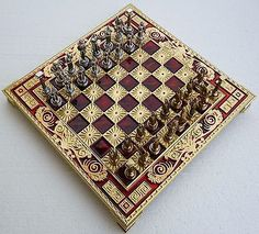 Greek mythology chess set with #bronze #board and metal #pieces made in greece,  View more on the LINK: http://www.zeppy.io/product/gb/2/272225985136/