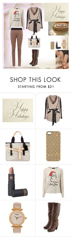 """""""Christmas Time"""" by oksana-kolesnyk ❤ liked on Polyvore featuring Bernard Maisner, Boohoo, Reed Krakoff, Marc by Marc Jacobs, Lipstick Queen, Salvatore Ferragamo and Reiss"""