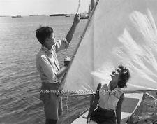 Democratic 35th President John F Kennedy First Lady Jackie Onassis Sailing