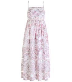 Zimmermann White & Pink 'Roza' Ladder Strap Dress