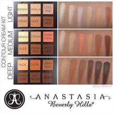 Anastasia Beverly Hills cream contour kit swatches
