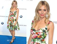 Sienna Miller In Dolce & Gabbana - BMW i3 Global Reveal Event