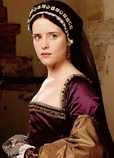 Claire Foy as Anne Boleyn in Wolf Hall - BBC.