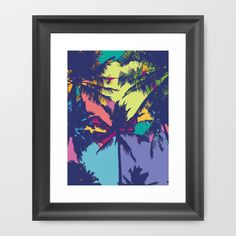 Palm tree Framed Art Print by PINT GRAPHICS - $34.00