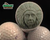 Carved Golf Ball: Native American