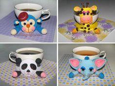 Monkey/Giraffe/Panda/Elephant Coasters - quilled by: Irina Motylevich | VK