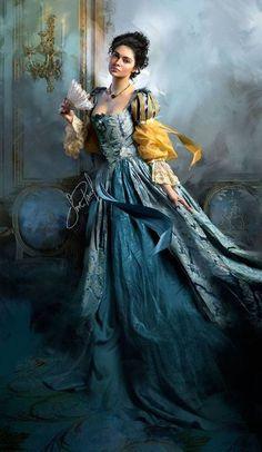 Lady by Jon Paul Studios Moda Medieval, Romance Art, Victorian Art, Book Cover Art, Classical Art, Beautiful Paintings, Ideias Fashion, Lady, Photos