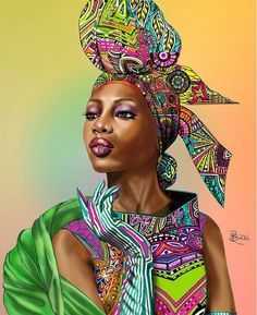 African elegance meets  the ink