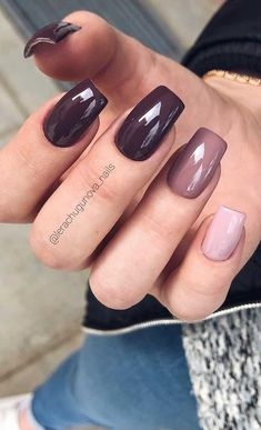 49 nail art designs that perfect for fall and winter, coffin nail art designs,almond nail art design, acrylic nail art, nail designs with glitter fall nail art designs Fall Almond Nails, Fall Gel Nails, Fall Acrylic Nails, Winter Nails, Classy Nails, Stylish Nails, Trendy Nails, Cute Nails, My Nails