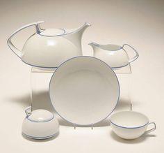 Art Deco - Bauhaus Tea Set by Walter Gropius for Rosenthal ca.1930