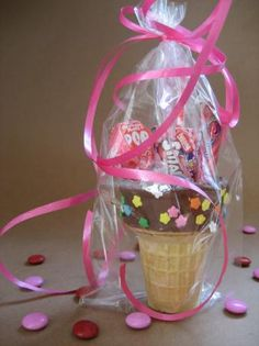 """Ice Cream Cone Party Favors: """"Since it was an extremely hot day, I used chocolate icing which stood up to the heat much better than the melted chocolate would have. These will definitely be made again for future parties!"""" -Jewelies"""