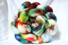 Hey, I found this really awesome Etsy listing at https://www.etsy.com/listing/229550500/hand-dyed-roving-multi-color-roving