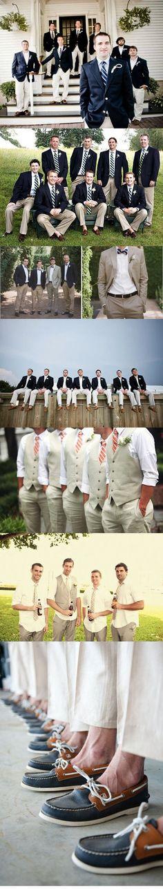 navy/khaki nautical groomsmen.....i really like this lol