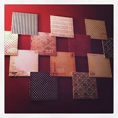 foam board and scrapbook paper!