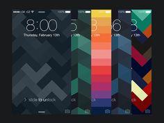 Geometrix Wallpapers for iPhone by Michael Dolejš
