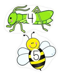 INSECTS Counting 0-20 FREE Learning Numbers Preschool, Creative Curriculum Preschool, Preschool Arts And Crafts, Preschool Centers, Free Preschool, Insect Activities, Pool Activities, Spring Activities, Thematic Units