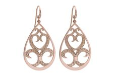 Would be divine in matte 18ct yellow gold instead of rose gold - Love & Hatred 'Frida' Earrings
