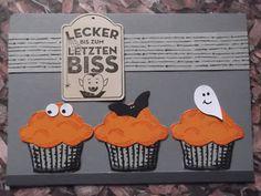 Sconebeker Stempelscheune - Stampin up Sets : Chalk Lines, Für Dich, Halloweenkarte, Worte die gut tun,