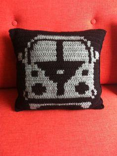 Crochet vw van pillow