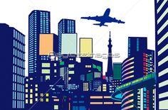都会のビル群の写真・イラスト素材 (gf1420430622) │ペイレスイメージズ