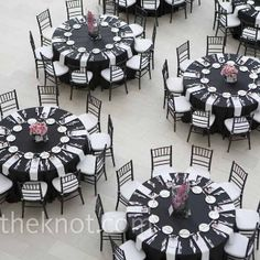 Black And White Wedding  I Like The Pop Of Color On The Centerpieces. Pops Part 96