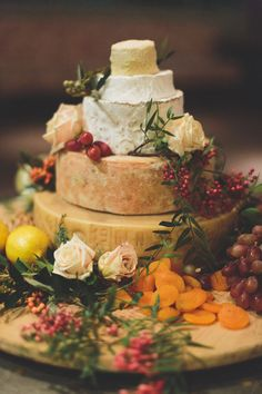 love a good cheese wheel cake