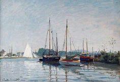Sailboats by Claude Monet