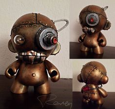 Rusty Robot Munny by raVen-MacKay on DeviantArt How To Stay Healthy, Robot, Steampunk, Deviantart, Raven, Inspire, Doll, Google Search, Black