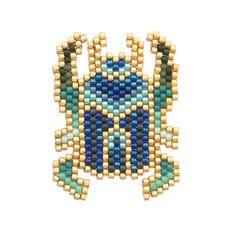 broche rose moustache tissage brickstitch miyuki kit bijou DIY p'tit scarabée la cabane à perles