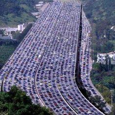 Mega embouteillages en Chine...