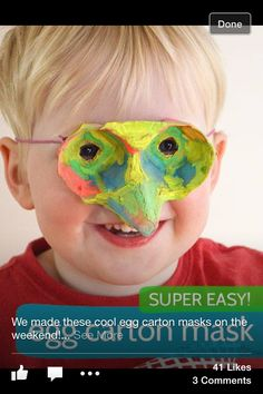 Egg box mask